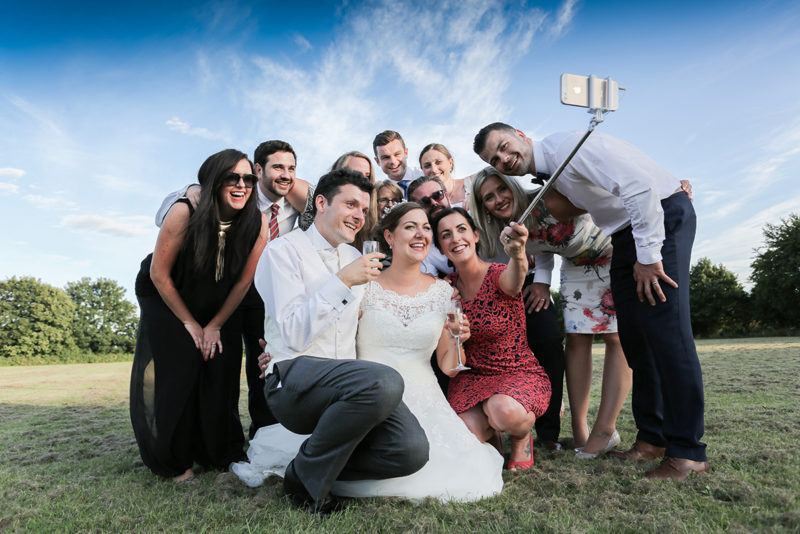Selfie wedding photography