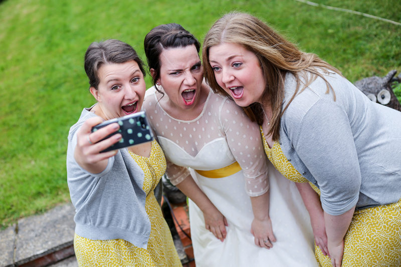 Selfie wedding photo