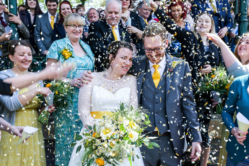 Confetti photo birmingham photographer