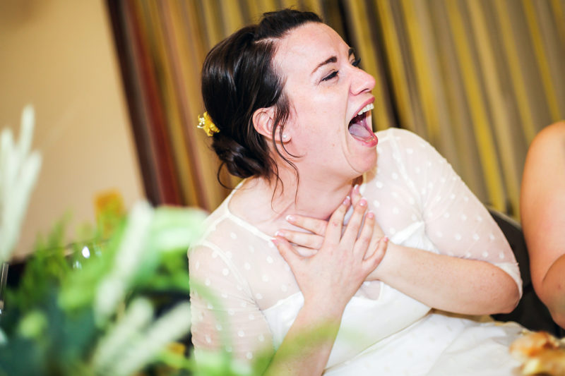Bride reaction photo midlands