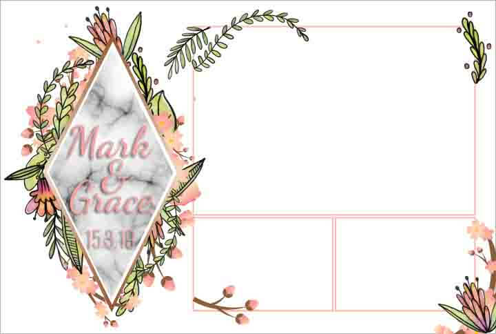 Photobooth template Marble Diamond