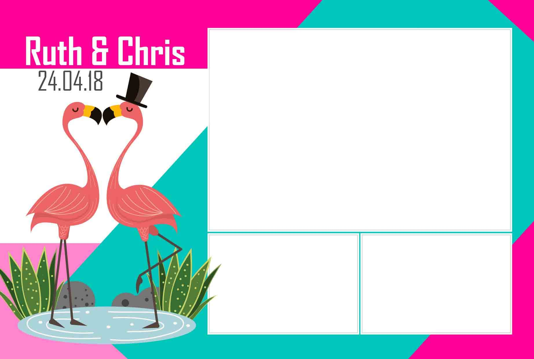 Photo booth template flamingo