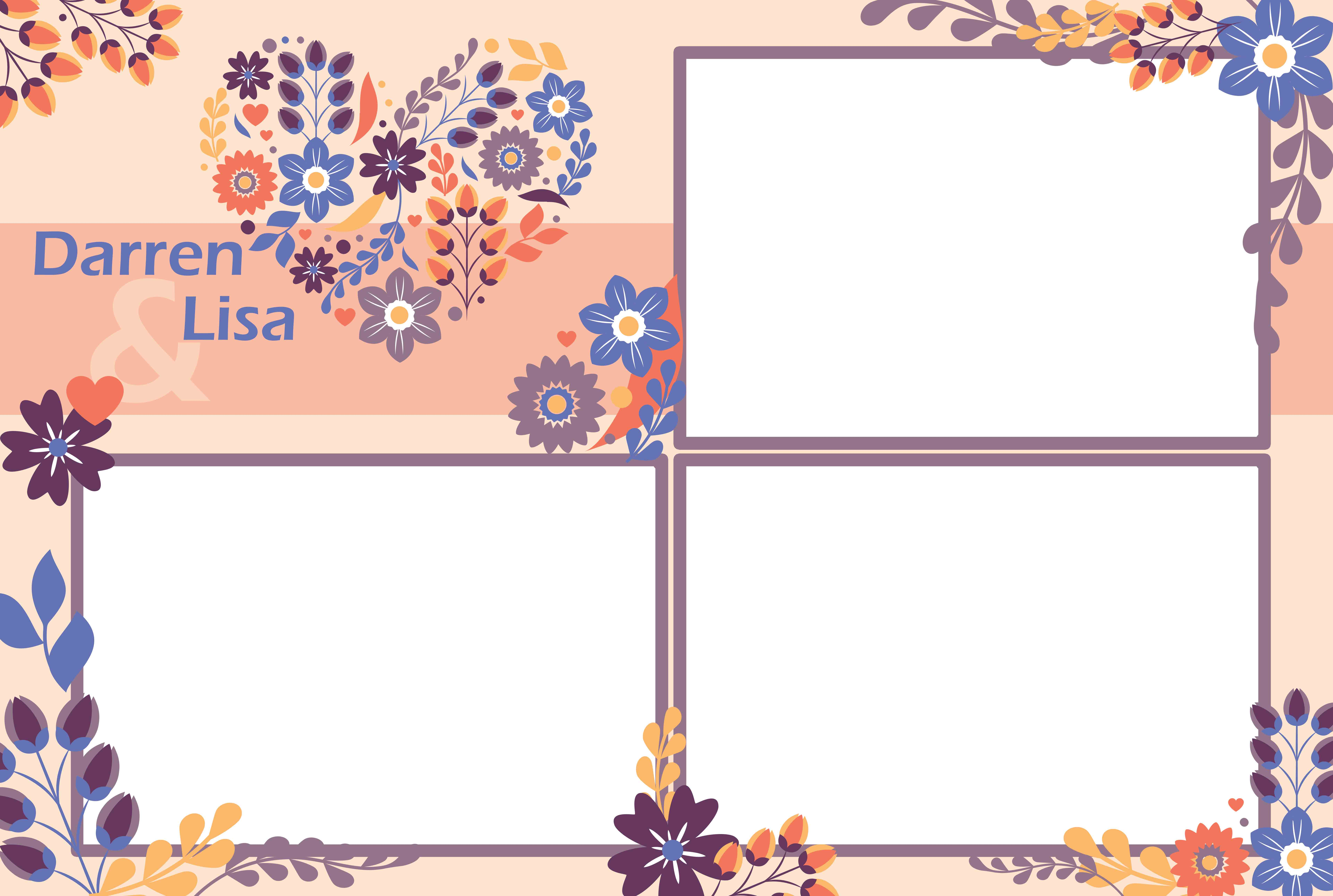 photo booth template floral