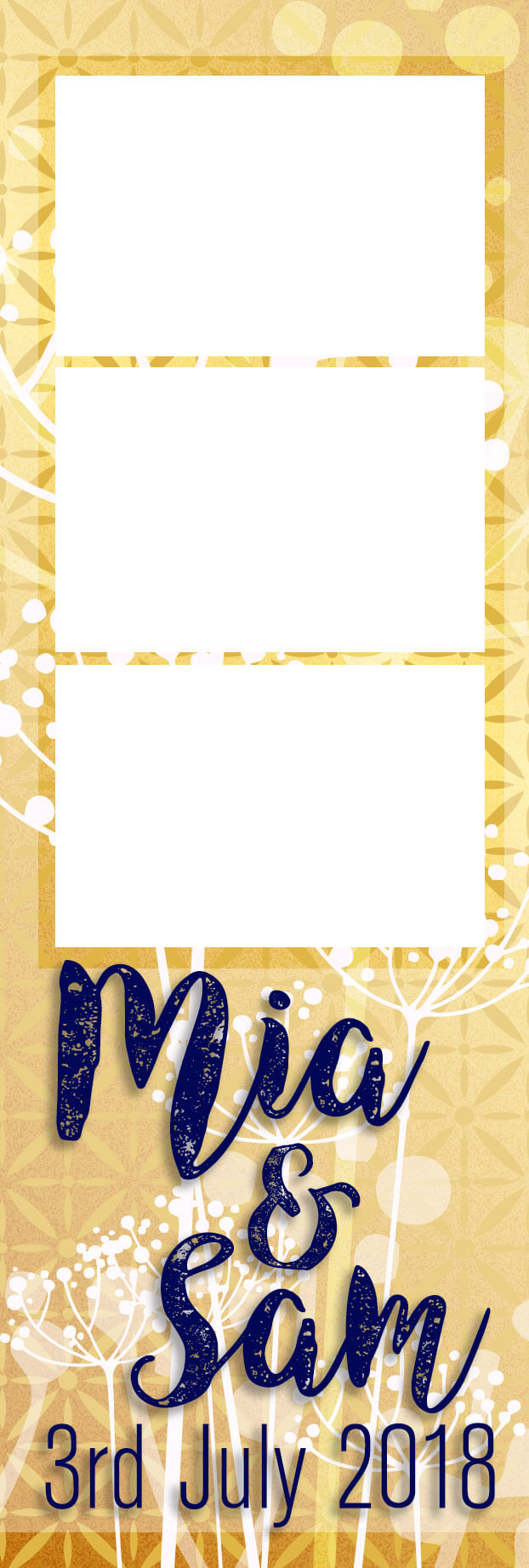 Photobooth template Strip Gold