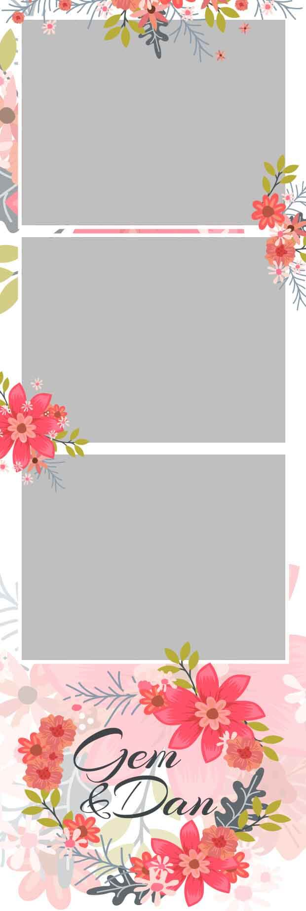 Photobooth Template Pink Flowers