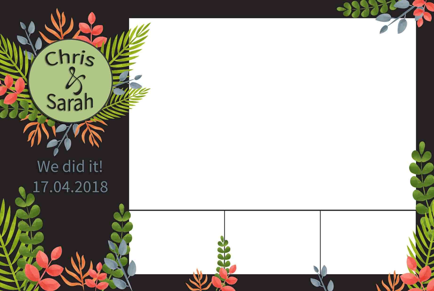 Custom photo booth template