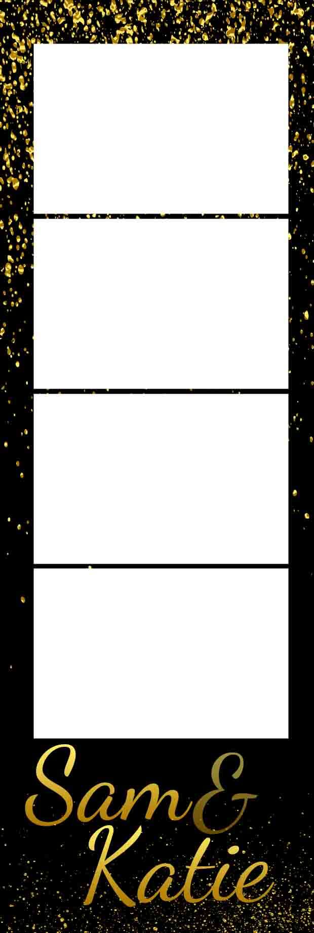Photobooth template Gold Sparkles