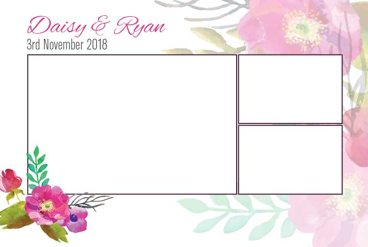 Custom photo booth template design  Social Booth