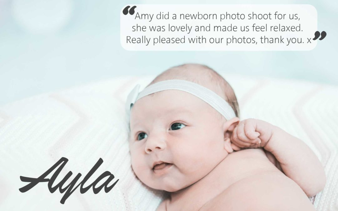 Ayla's newborn photo shoot